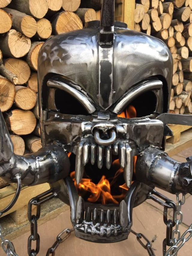 Motorhead Snaggletooth Fire Pit - Warpig Fire Pit - Motorhead Wood Burner - Metal Art   2