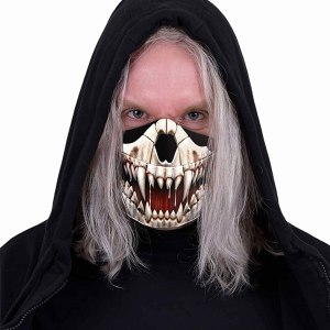 Spiral - Rock JAW - Cotton Fashion Mask with Adjuster Black