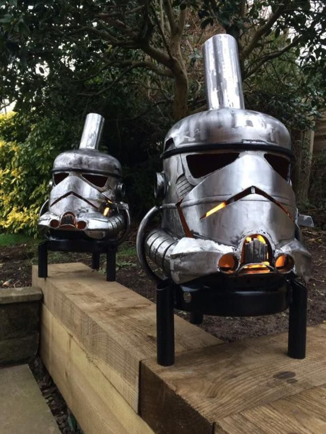 Storm Trooper Wood Burner - Storm Trooper Fire Pit - Star Wars Fire Pit - Storm Trooper - Metal Art - Fire Pit - Wood Burner  3