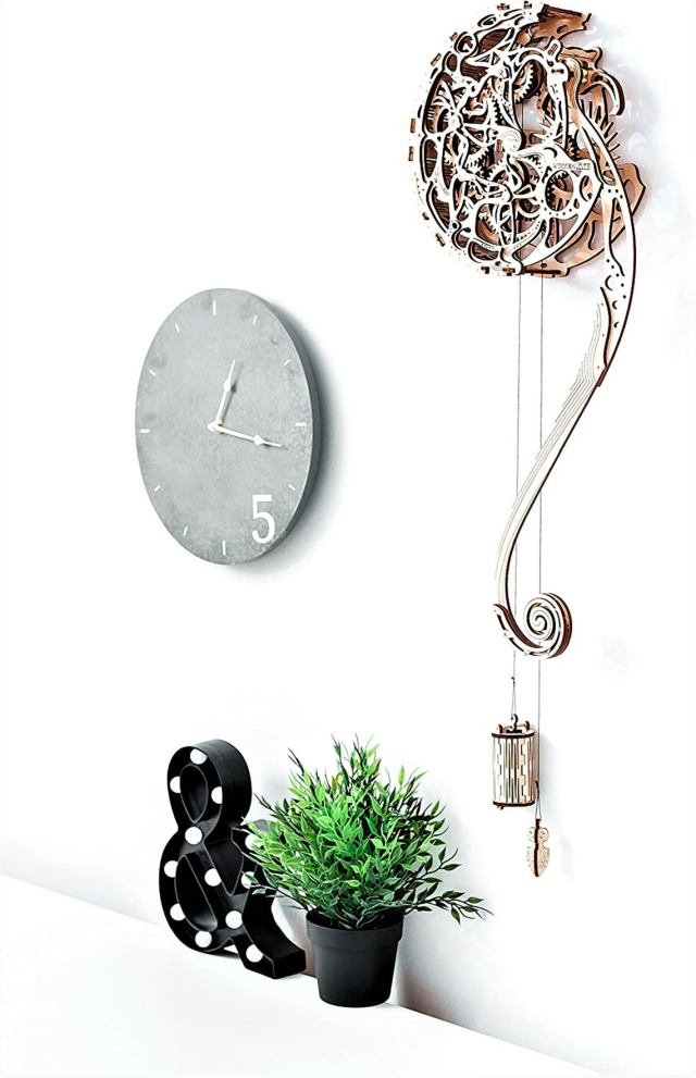 Wall Pendulum - Build your own Wooden working Mechanism. DIY Project Kit 2