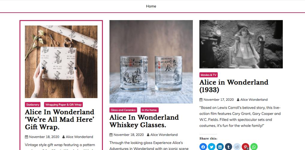Alice in Wonderlan blog