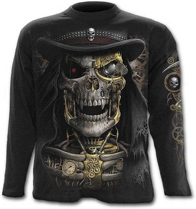 Spiral - Steam Punk Reaper - Longsleeve T-Shirt Black