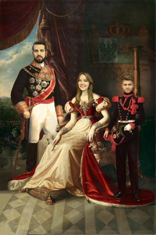 Victorian and Renaissance Fashion Portrait of your Family. 1