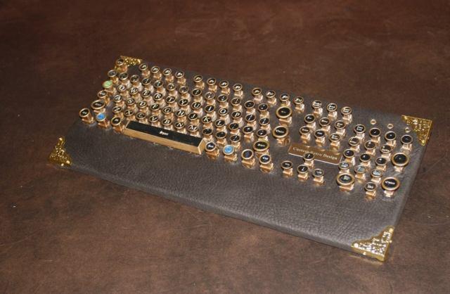 "steampunk PC keyboard ""classic""  1"