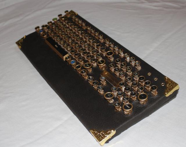 "steampunk PC keyboard ""classic""  3 pc"