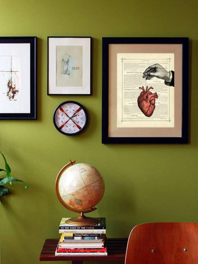 Anatomical Heart Thread Hand - Vintage Victorian Book Page Art Print Steampunk Valentine's Day Love  3