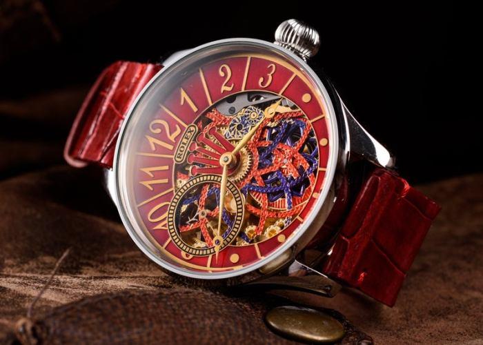 Hand Made Skeleton Watch Incorporating Original Vintage Rolex Movement.