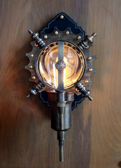 Wall Clock Steampunk light