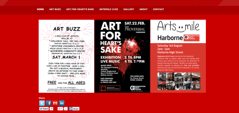 Edgbaston Arts Forum – Website