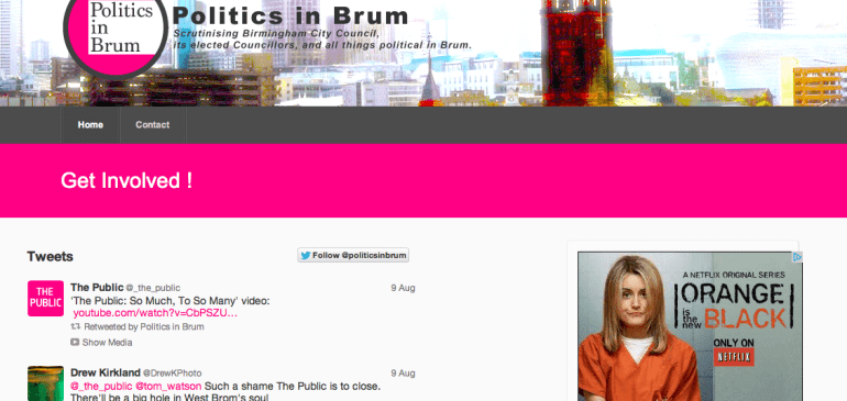 Politics In Brum – Business Package