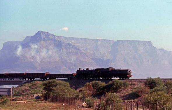 19C table mountain steam train cape town south africa