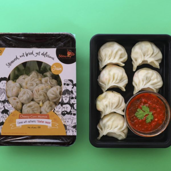 Jain Cheese Corn momos