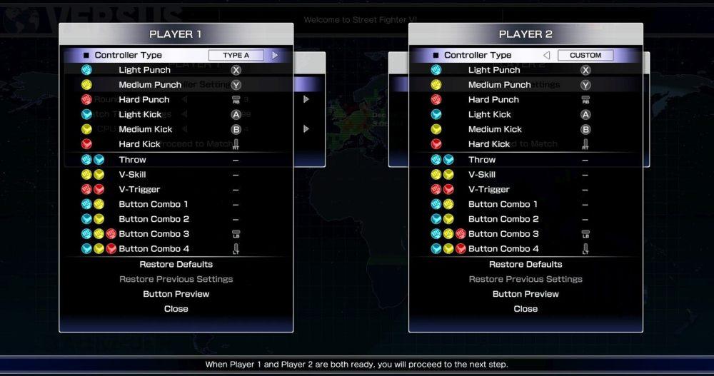 medium resolution of sfv d input controller settings menu