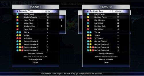 small resolution of sfv d input controller settings menu
