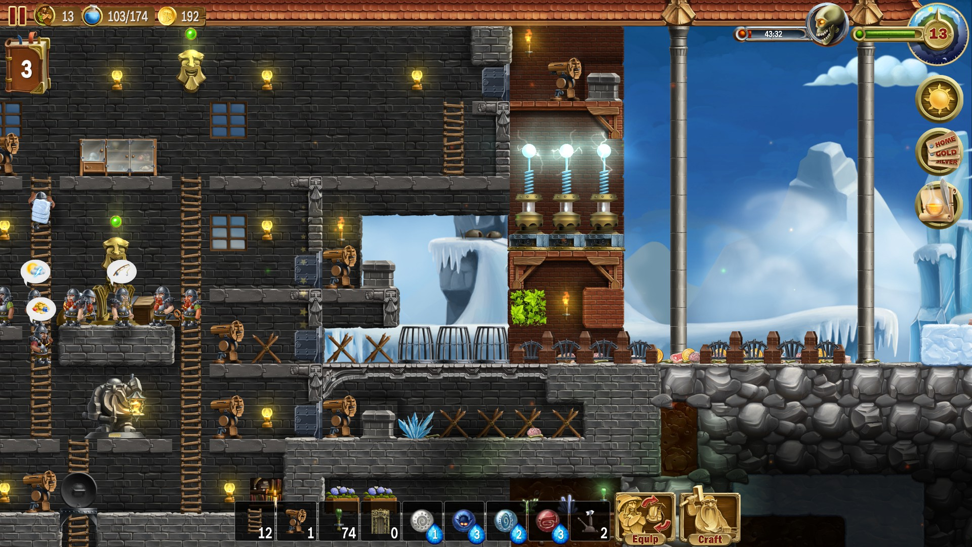 Steam Community Screenshot Right Side But Late Game Note The Stone Bridge And Placement Of Arrow Towers