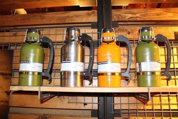 Fancy Growlers for sale in our shop at Steamworks Brewing Company in Durango