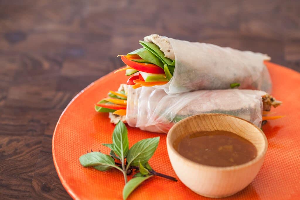 vietnamese spring rolls with