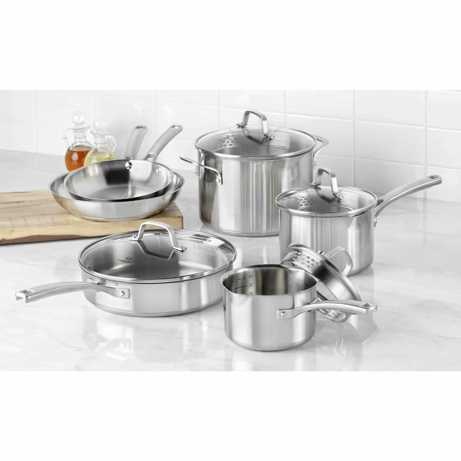 kitchen cookware sets industrial faucet calphalon classic stainless steel giveaway