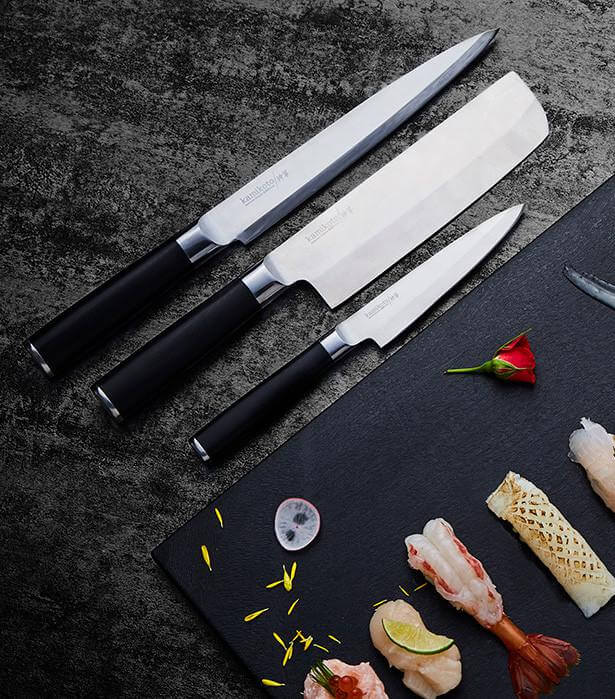 japanese kitchen knife set table with built in bench kamikoto knives review ($1,295) & giveaway • steamy ...