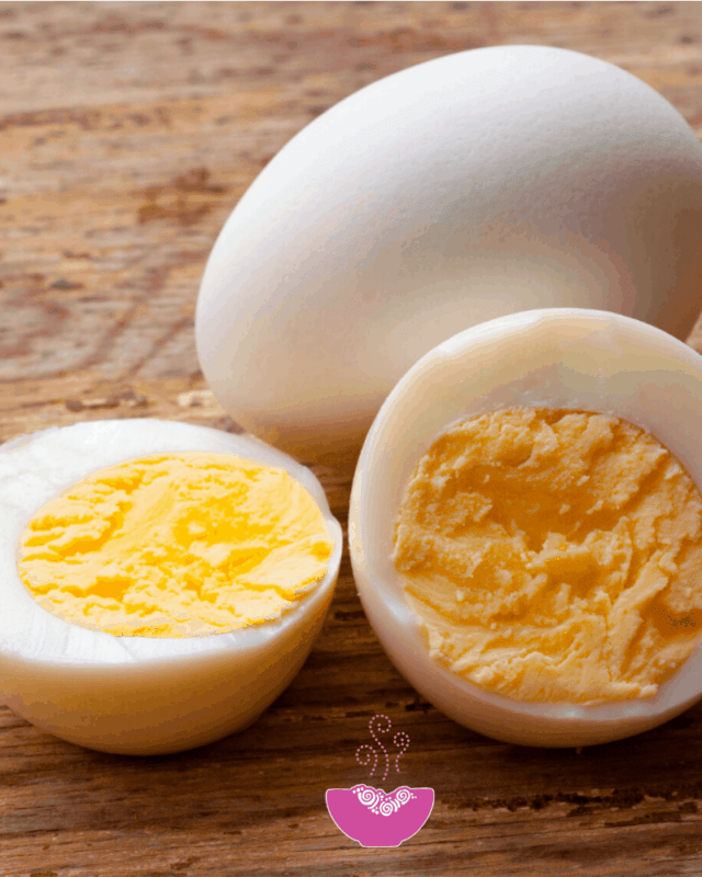hard boiled egg in the microwave