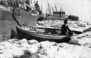 River Crouch, frozen during 1895 (possibly)