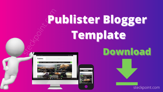 Publister Blogger Template Download | Best Template