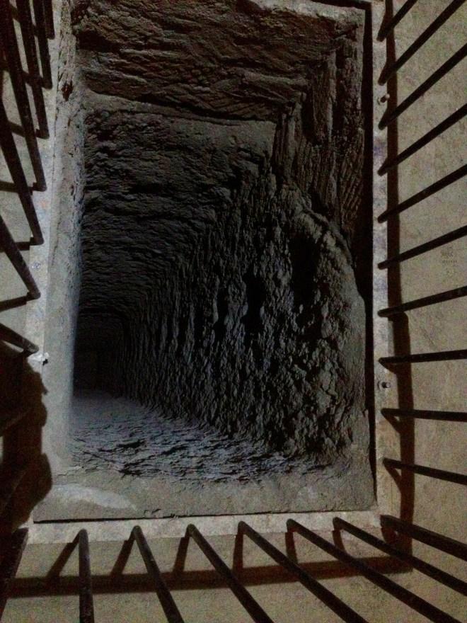 Etruskisk brønd under Orvieto, Umbrien, Italien.