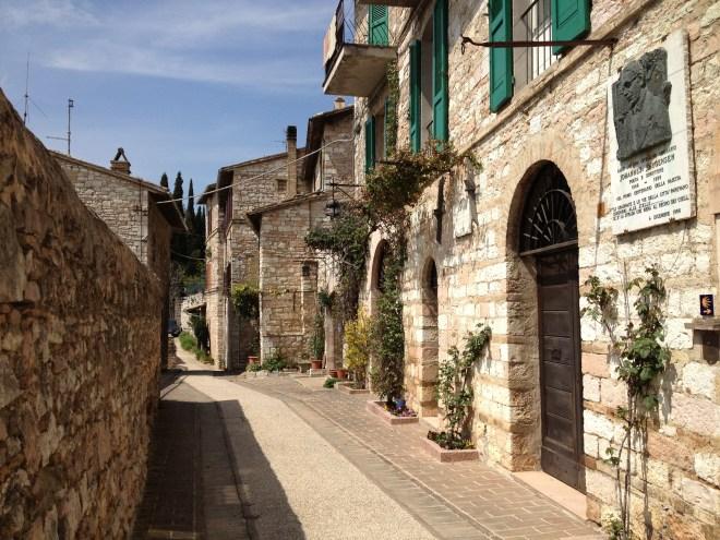 Via Giovanni Jorgensen, Assisi, Umbrien, Italien.