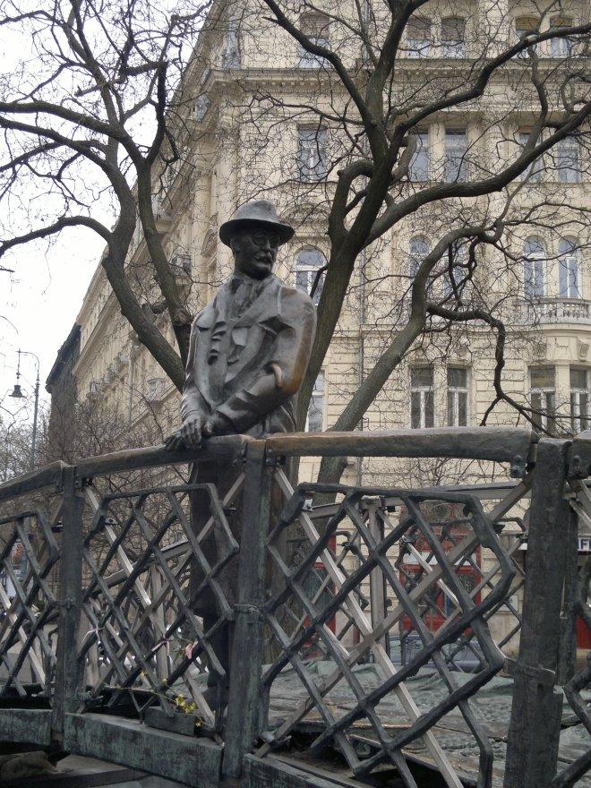 Statue af Imre Nagy, Budaspest, Ungarn.