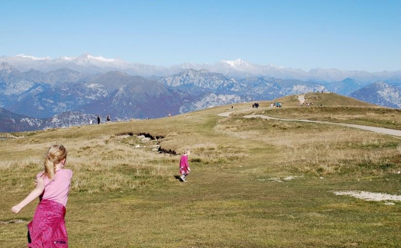 På toppen af Monte Baldo, Veneto, Italien