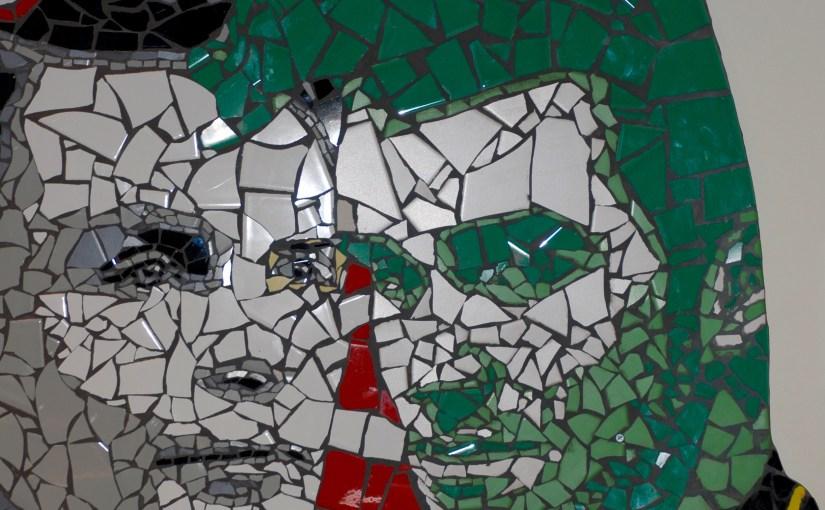 Mark Kennedy-mosaik, Manchester, England.