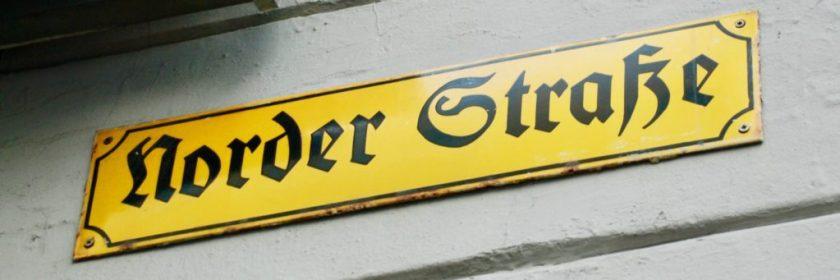Norderstrasse, Flensburg, Tyskland.