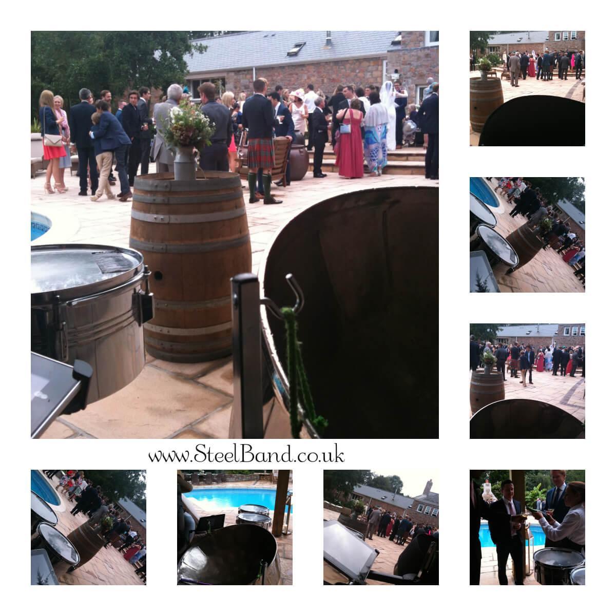 real weddings steelasophical steel band hire uk jersey Guernsey