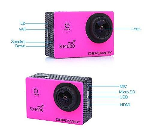 DBPOWER SJ4000 WiFi Camera steelasophical 1