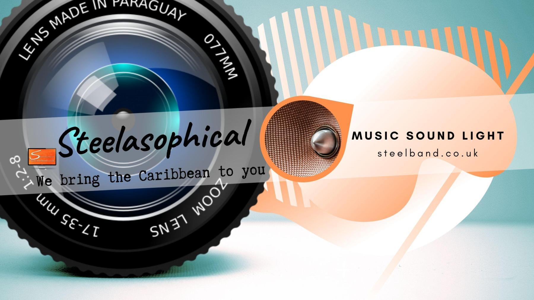 Steelasophical Steelpan-band for Hire UK steelpans Steeldrums Caribbean Music wy6wy
