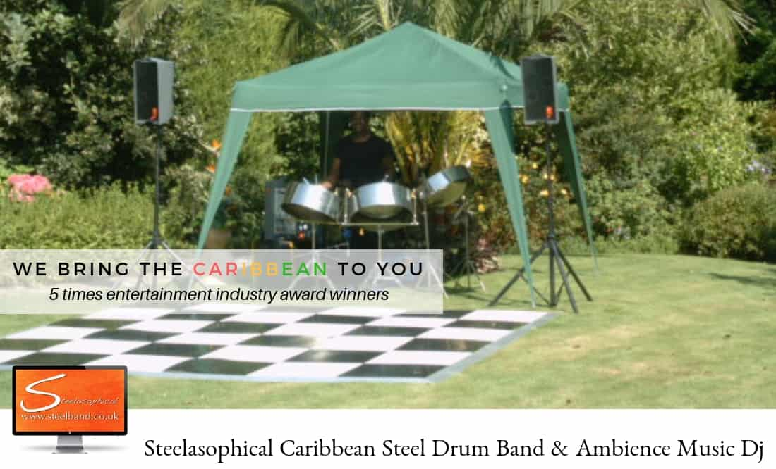 Steel band for your party 001 jersey Guernsey Chennel Islands
