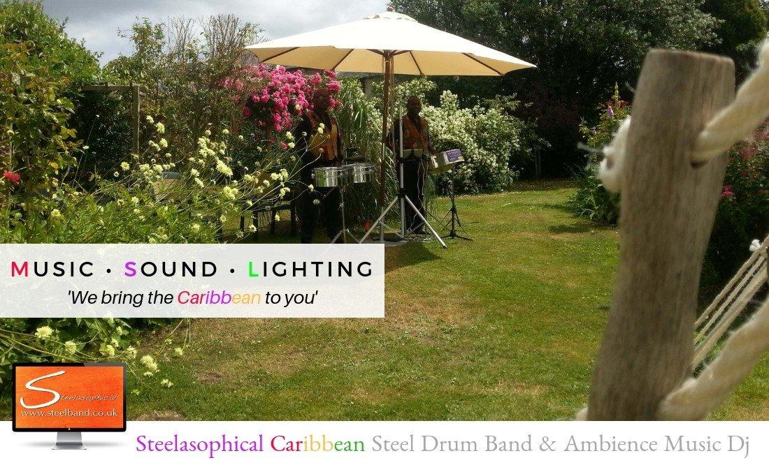 Steelasophical steel Pan Drum Band band DJ Steelpan | Reception at Home Garden Party
