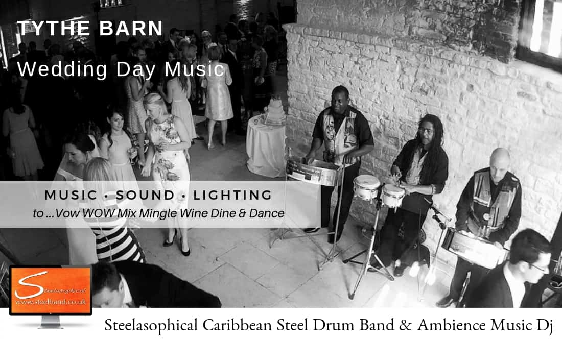 Steelasophical steel Pan Drum Band band DJ Steelpan tythe Barn Tithe Petersfield