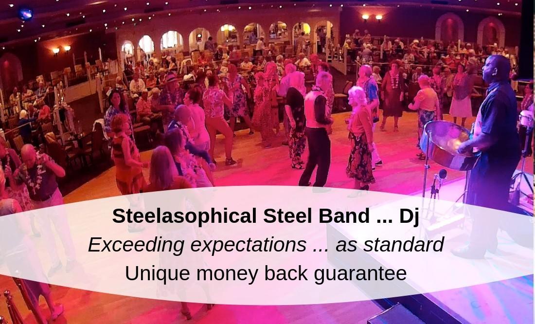 Sinah Warren Leisure club Steelasophical Caribbean night Steelpan band