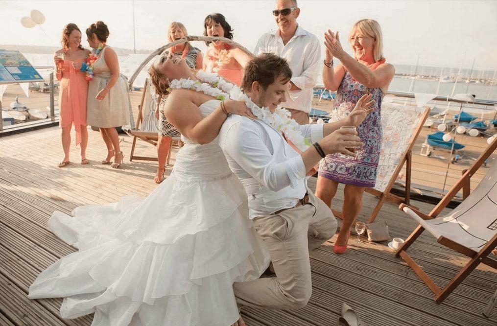steel band steelasophical wedding steelband steel band bridal party dancing. Bride and Groom dancing to Calypso