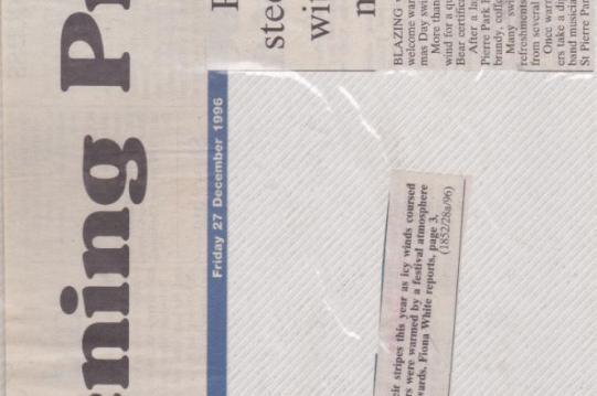 Guernsey Evening Press Jersey Channel islands Steelasophical steelband