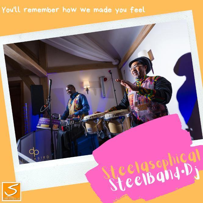 Steelasophical Steel Band Duo Band DJ