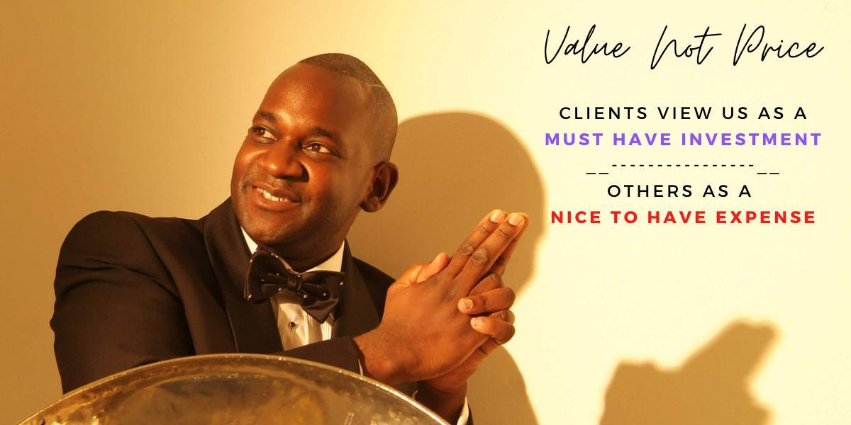 Value not price Steelasophical wedding steelpan