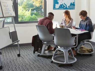 steelcase classroom chairs pub tables and node for active learning case studies
