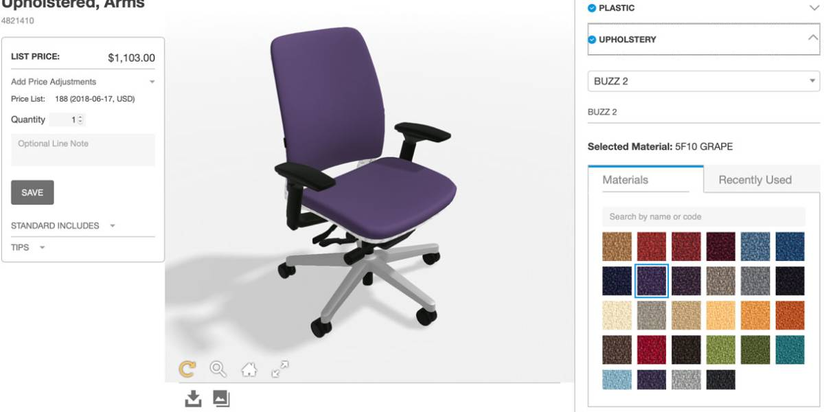 steelcase amia chair brochure coloured dining room chairs ergonomic office seating visualizer