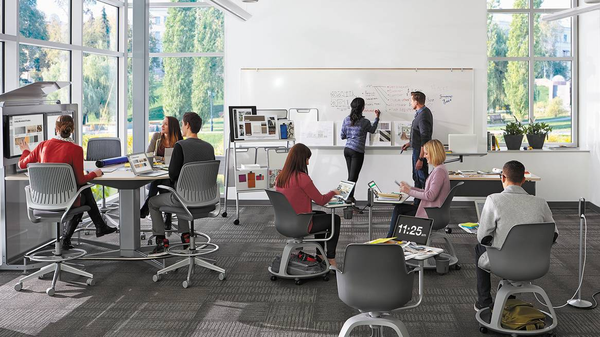 steelcase classroom chairs stacking sling chair target furniture solutions for education think make share