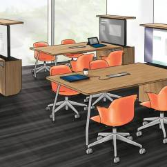 Steelcase Classroom Chairs Wheelchair Market How The Verb Active Media Table Is Driving Student Engagement Activates Large Classrooms