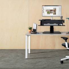 Office Chair Riser Desk Used Active Lift Adjustable Sit To Stand Steelcase