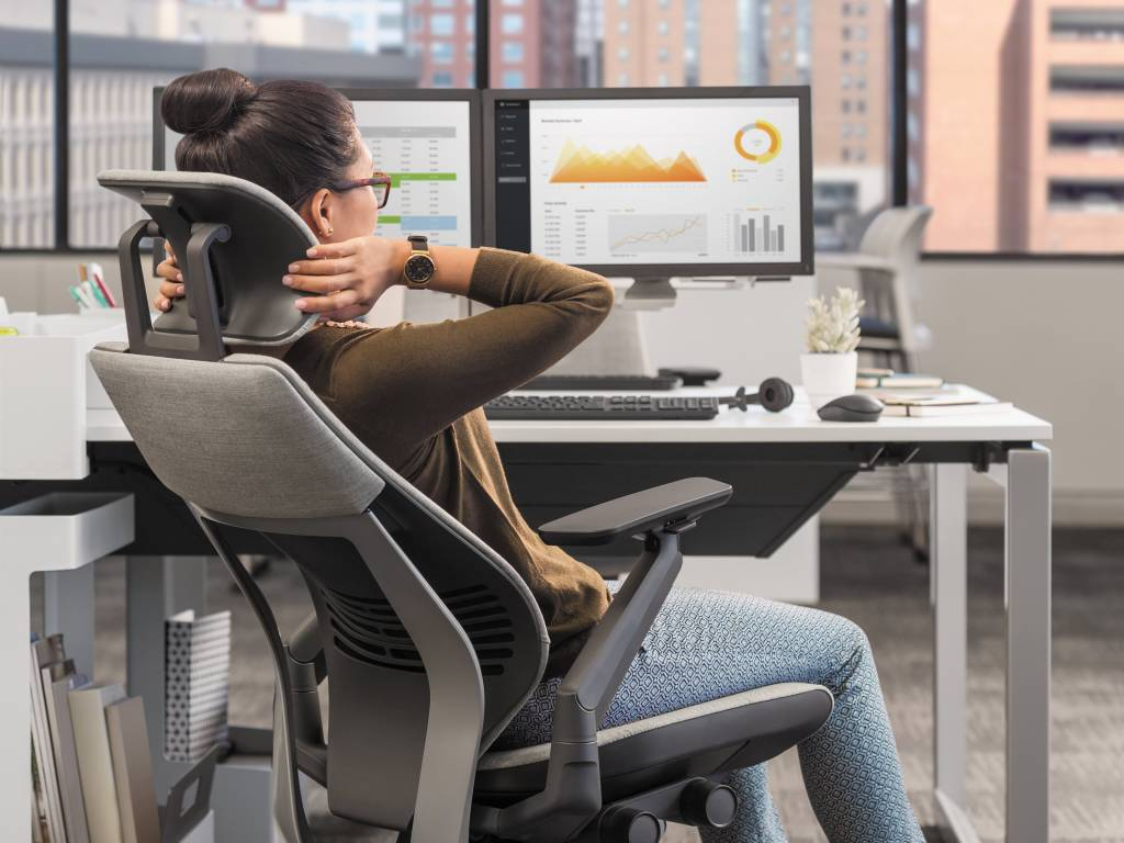 desk chair leans forward eiffel dining gesture an ergonomics evaluation steelcase