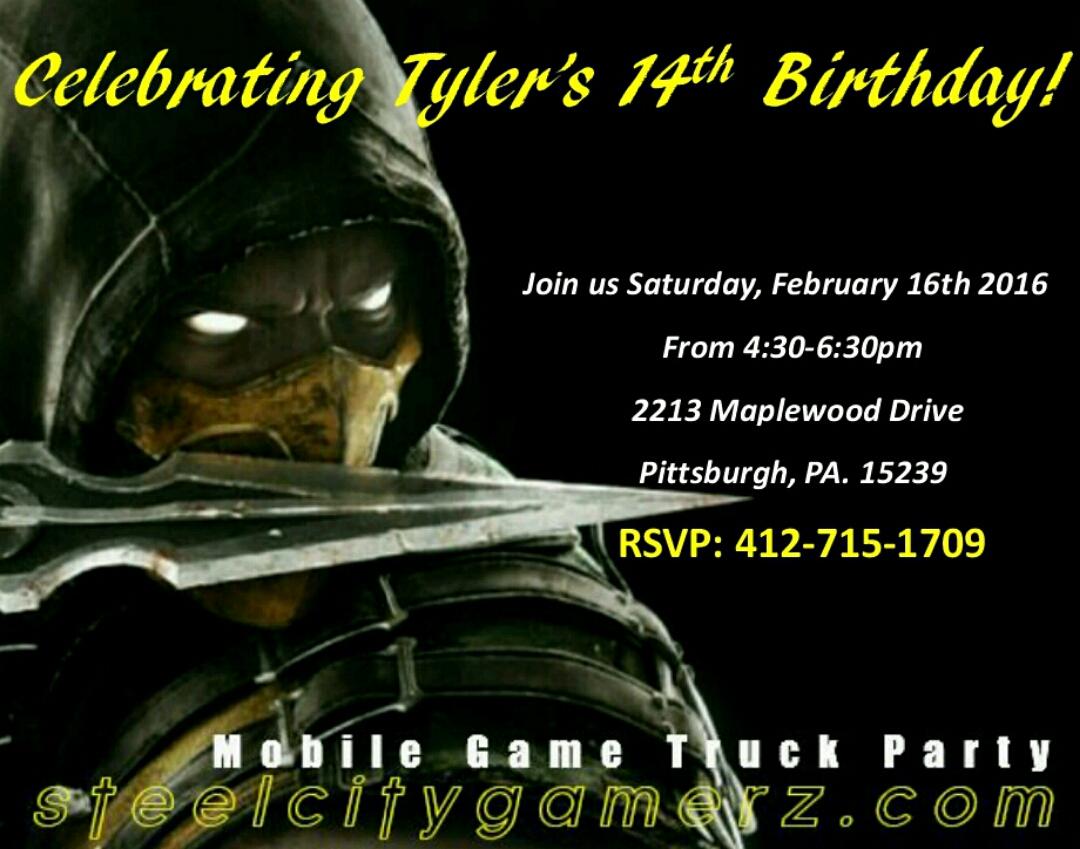 Birthday Invitations Laser Tag